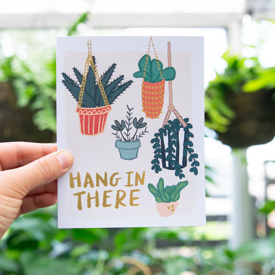 plant greeting card in greenwich
