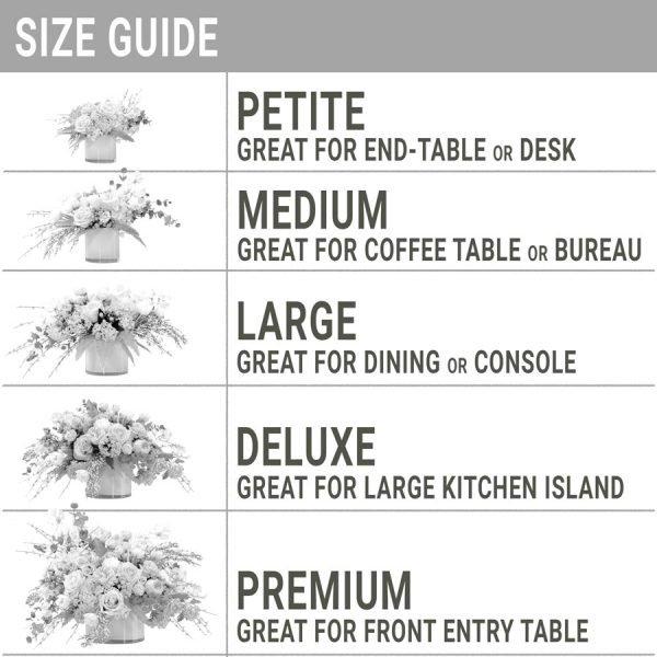 Garden Inspired Sizes