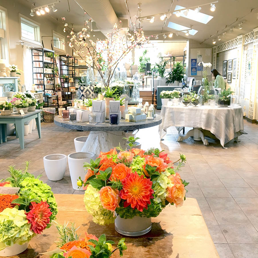 middle showroom in flower shop in greenwich